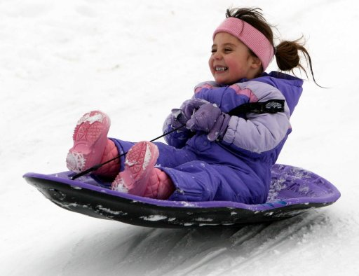 sledding-girl